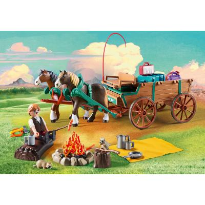 Playmobil 9477 - Lucky's Dad and Wagon - Spirit - Riding Free