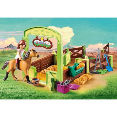 Playmobil 9478 - Lucky & Spirit with Horse Stall - Spirit - Riding Free