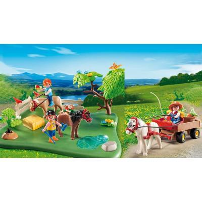 Playmobil 5457 -  40th Anniversary Pony Pasture Compact Set + Pony Wagon