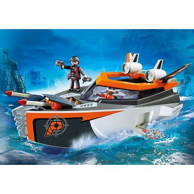Playmobil 70002 Spy Team Turbo Ship - Top Agents
