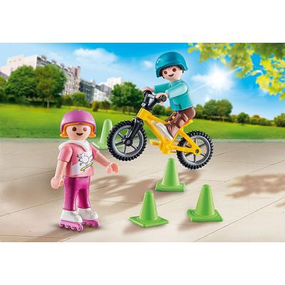 Playmobil 70061 - Specials Plus Children with Skates and Bikes