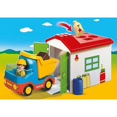 Playmobil 70184 - Garbage Truck with Garage - Playmobil 1.2.3