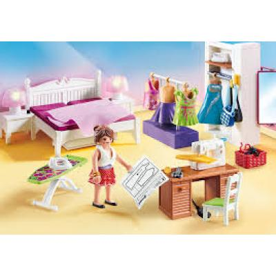Playmobil 70208 - Bedroom with Sewing Corner - Dollhouse