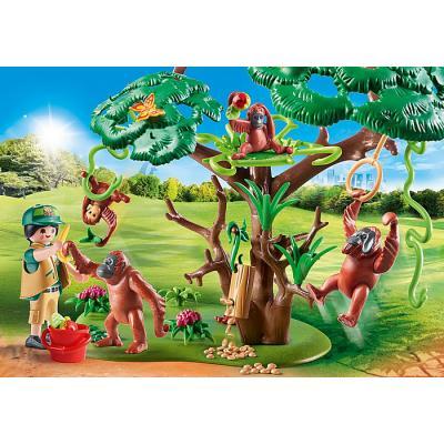 Playmobil 70345 - Orangutans with Tree - Family Fun