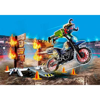 Playmobil 70553 - Stunt Show Motocross with Fiery Wall - Stunt Show