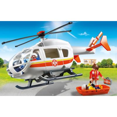 Playmobil 6686 - City Life Children's Hospital Emergency Medical Helicopter