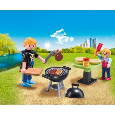 Playmobil 5649 -  Backyard Barbecue Carry Case Family Fun