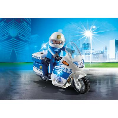 Playmobil 6923 - Police Bike with LED Light