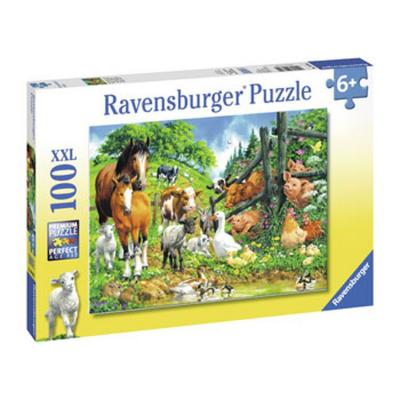 Ravensburger - Animal Get Together Puzzle - 100 pieces