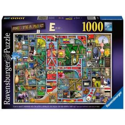 Ravensburger - Awesome Alphabet - E is for... - Jigsaw Puzzle - 1000 Pieces