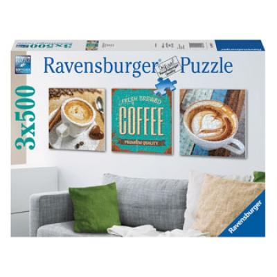 Ravensburger - Coffee Time Puzzle - 3x500 pieces