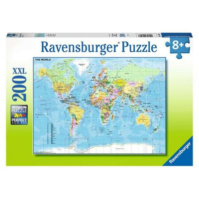 Ravensburger  - Map of the World XXL Puzzle - 200 pieces