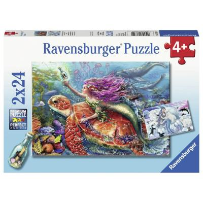 Ravensburger -  Mermaid Adventure Puzzle 2x24 pieces