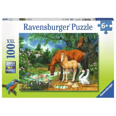 Ravensburger - Ponies at the Pond Puzzle - 100 pieces