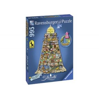 Ravensburger - Silhouette Sea View Jimmy Lighthouse Puzzle - 995 pieces