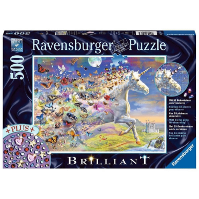 Ravensburger - Unicorn and Butterflies Puzzle - 500 pieces