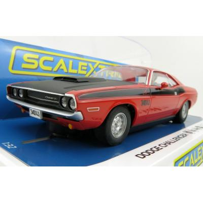 Scalextric C4065 Dodge Challenger - Red & Black Slot Car 1:32 Scale