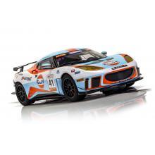 Scalextric C4183 Lotus Evora GT4 No 41 Gulf Edition Slot Car 1:32 Scale