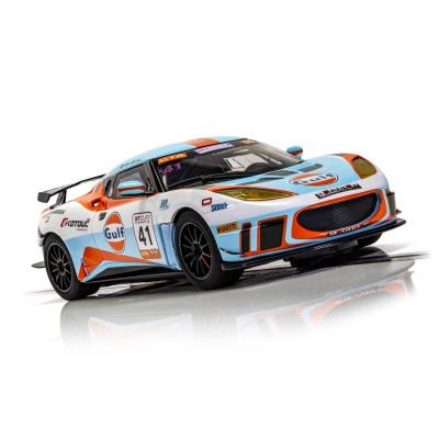 Scalextric C4183 Lotus Evora GT4 No 41 Gulf Edition Slot Car 1:32 Scale