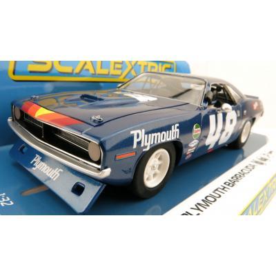 Scalextric C4219 Plymouth Barracuda - Trans Am 1970 - Dan Gurney Slot Car 1:32 Scale
