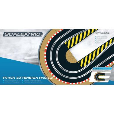 Scalextric C8512 - Track Extension Pack 3 - Hairpin Curve and  Side Swipe - Scale 1:32