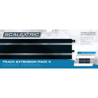Scalextric C8526 - Track Extension Pack 4 - 4x Standard Straight - Scale 1:32