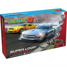 Scalextric F1001 - SCALEX43 Super Loop Thriller Slot Car Race Set Mercedes AMG vs Ford Mustang - Scale 1:43