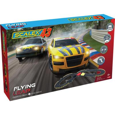 Scalextric F1002 - SCALEX43 FLYING LEAP Slot Car Race Set Scale 1:43