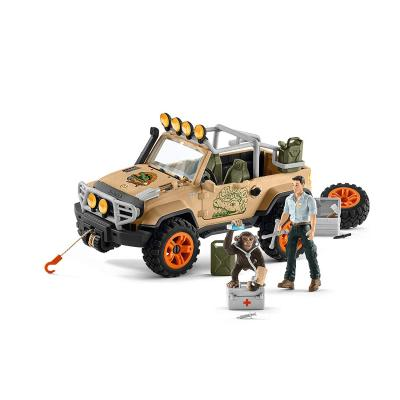 Schleich 42410 Off Roader 4x4 Vehicle with Winch - Wild Life