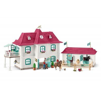 Schleich 42416 - Large Horse Stable with House, Horses & Accessories - Horse Club