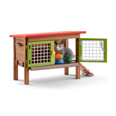 Schleich 42420 - Rabbit Hutch with Rabbits and Accessories Play Set Farm Life