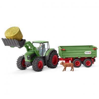Schleich 42379 - Tractor with Trailer Playset