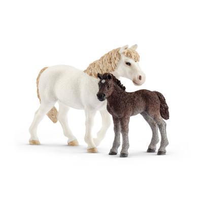 Schleich 42423 - Dartmoor Pony Mare and Foal  - Farm World