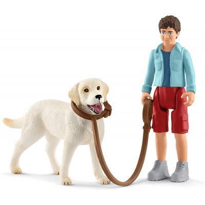 Schleich 42478 - Walking With Labrador Retriever - Farm World - New Item 2019