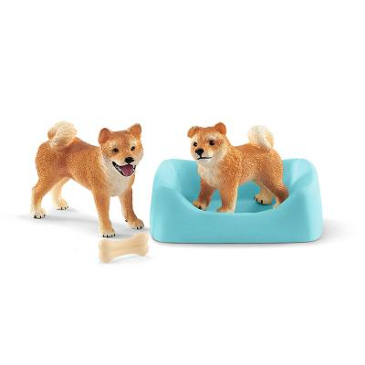 Schleich 42479 - Shiba Inu Mother And Puppy - Farm World - New Item 2019
