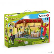 Schleich 42485 Horse stable with Accessories Farm World New 2019