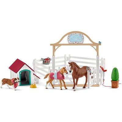 Schleich 42458 - Hannahs Guest Horses with Ruby the Dog - Horse Club