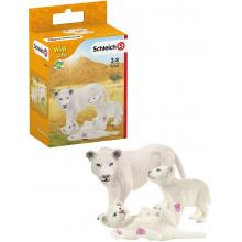 Schleich 42505 - Lion Mother with Cubs - Wild Life