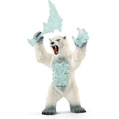 Schleich 42510 - Blizzard Bear with Weapon - Eldrador Creatures
