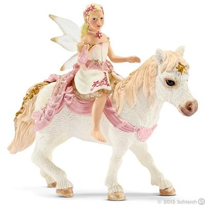 Schleich 70501 - Delicate Lily Elf, Riding a Pony