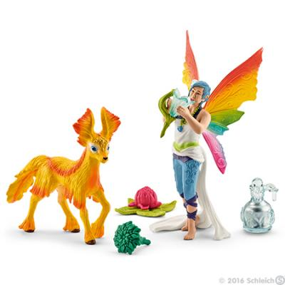 Schleich 41438 Rainbow Elf Dunya with Foal