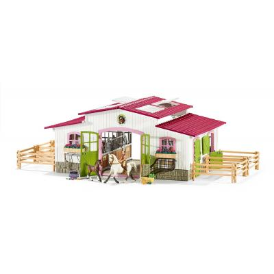 Schleich 42344 Horse Stable Riding Centre with Horses and Accessories Horse Club New 2016