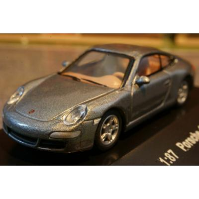Model Power 19186 Porsche 911 Carrera S Grey Metallic Diecast H0 Scale 1:87