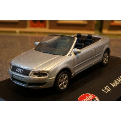 Model Power - Audi A4 Cabrio Silver Metallic - H0 Scale 1:87