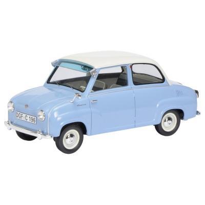 Schuco 450009600 Goggomobil Limousine Resin Blue & White 1:18