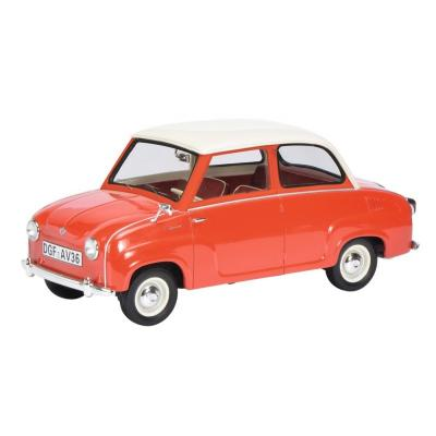 Schuco 450009700 Goggomobil Limousine Resin Red & White 1:18