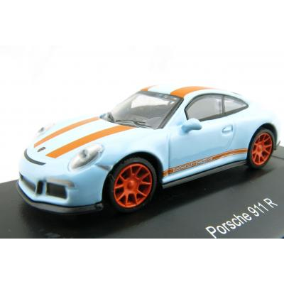 Schuco 452637500 Porsche 911 R Gulf Blue / Orange Scale H0 1:87