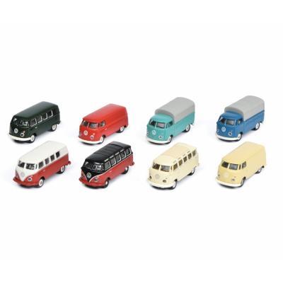 Schuco 452640800 8x Volkswagen VW T1 Bus Van Loading Set Scale H0 1:87