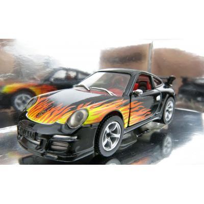Siku 1006 Porsche 911 Blackline Flames - Scale 1:55