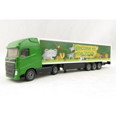 Siku 1627 - Volvo FH04 Globetrotter Truck with Box Trailer - Zoo - Scale 1:87